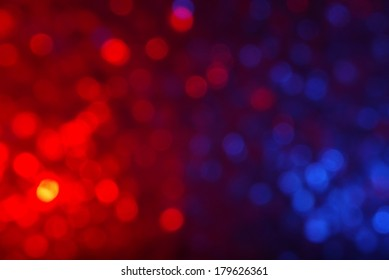 Red and Blue Bokeh Background