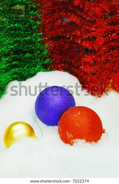 red blue gold christmas decorations