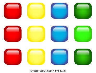 red, blue, green and yellow square buttons