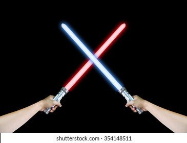 Red and Blue Lightsaber