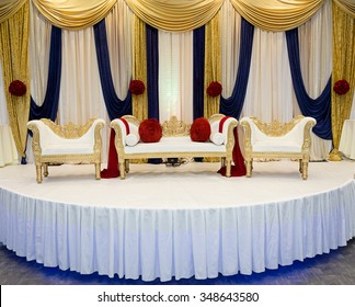 Decorated stage images stock photos vectors shutterstock red blue wedding stage junglespirit Images