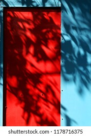 red and blue window