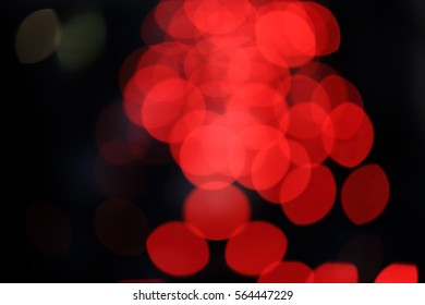 Red Bokeh in Black Background