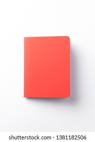 red book or red note on isolated white background