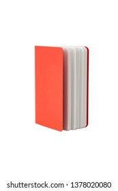 red book or notebook on isolated with clipping path