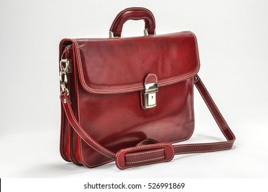 Red, Bordoux Briefcases with Professional Style with white background