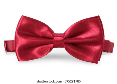 A red bow Tie, isolated on white background