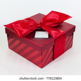 Red box against white background