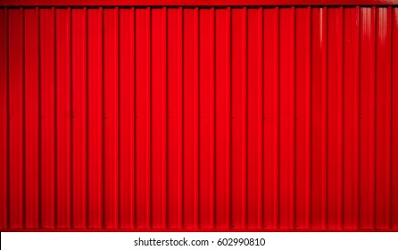 Red box container striped line texture background