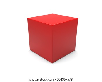 A red box isolated on white background