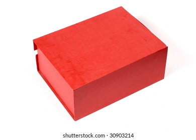 Red box isolated on white