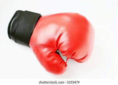 A red boxing glove isolated