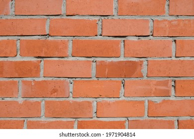 Red brick and Cement mortar brick wall surface