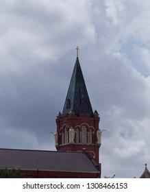 Red Brick Church Steeple