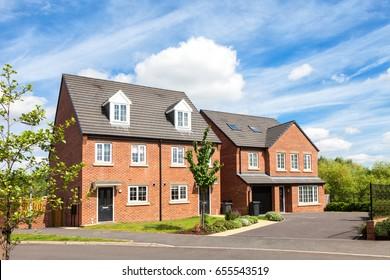 Red brick english houses
