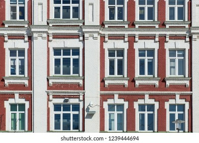 Red brick facade, Moscow, Russia