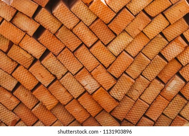 Red brick pattern. Building materials