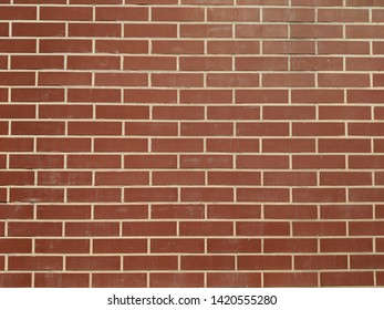 Red brick pattern texture with white lines