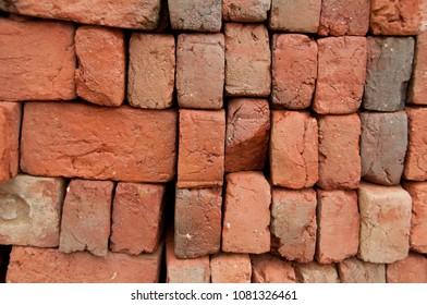 Red brick pile