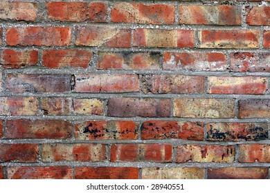 Red brick wall.