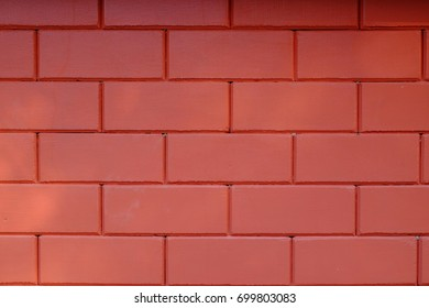 Red brick wall for background image.