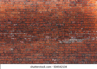 Red Brick Wall Background in Lincolnshire, England