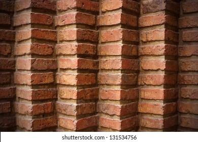 A red brick wall background or texture
