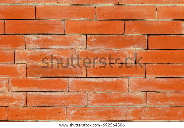 Red brick wall in background texture patter, cool living concept