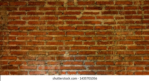 red brick wall, can be used as wallpaper and background