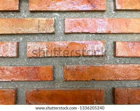 Red Brick Wall Decoration Baked Clay Stock Photo Edit Now