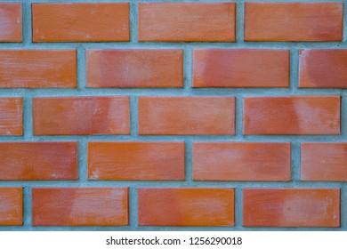 Red brick wall pattern.