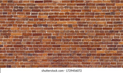 Red Brick wall seamless background. Whitewashed stone texture background