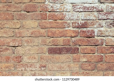Red brick wall texture background.