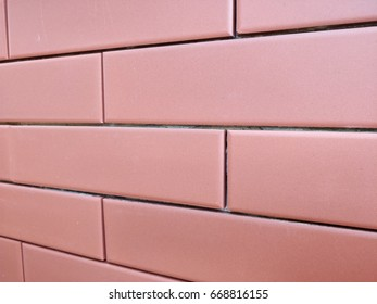 Red brick wall texture with gradient color