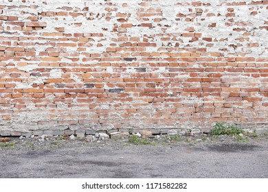 red brick wall texture grunge background, traditional exterior design template