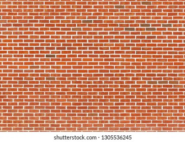 Red brick wall texture with white joints