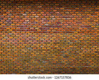 Red brick wall use for backgroud