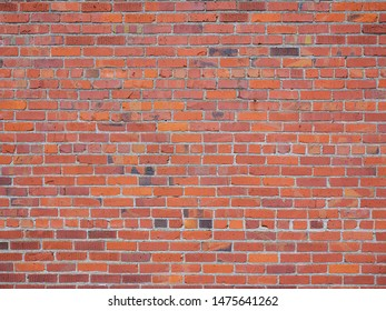 Red Brick Wall with white mortar