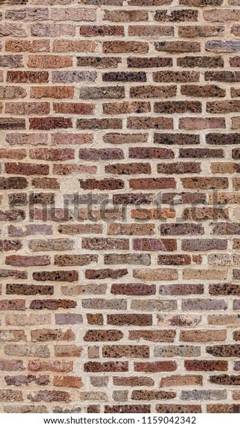 Red Brick Wall White Mortar Repair Stock Photo (Edit Now) 1159042342