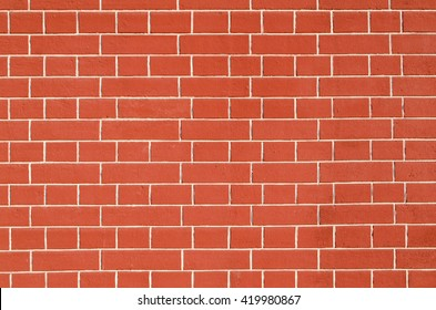 Red brick wall with white stripes