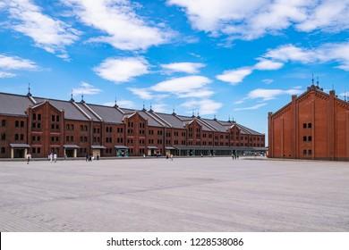 Red Brick Warehouse in Yokohama Minatomirai Area, Kanagawa Prefecture, Japan. The Yokohama Red Brick Warehouse is a historical building in Yokohama Port.