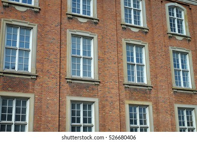 Red brick and window.