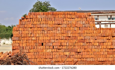 Red bricks for building walls