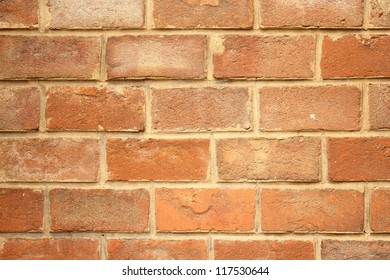 red bricks forming a beautiful texture on a facade