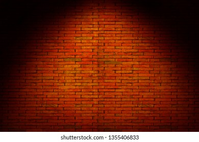 Red Bricks wall with light spot on center backgrounds.