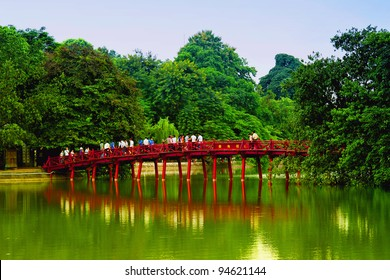 Red Bridge in Hoan Kiem Lake, Ha Noi, Vietnam
