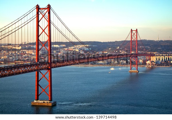 Red bridge, Lisbon, Portugal