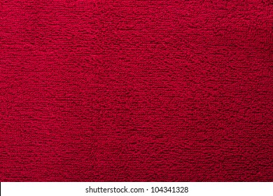 red bright towel close up