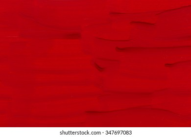 Red brushed painted texture background on paper