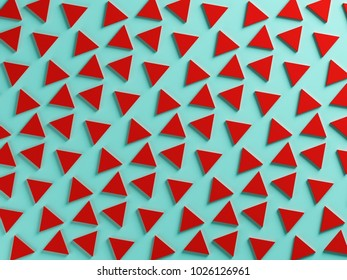 Red and bue triangular two color textured background